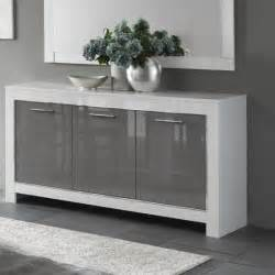 small white bathroom ideas lorenz sideboard in white and grey high gloss with 3 doors