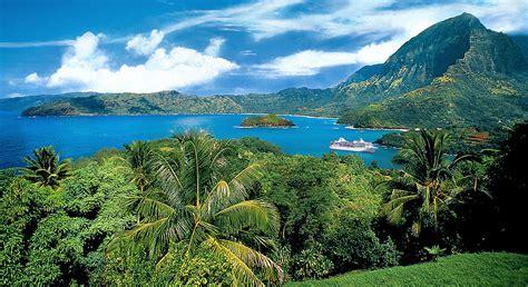 Marquesas Tuamotus And Society Islands Itinerary And Map