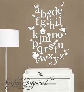 nursery wall decal alphabet wall decals possibly for the With nursery letter decals