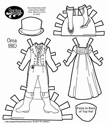 Paper Doll Regency Dolls Printable Sprites Paperthinpersonas
