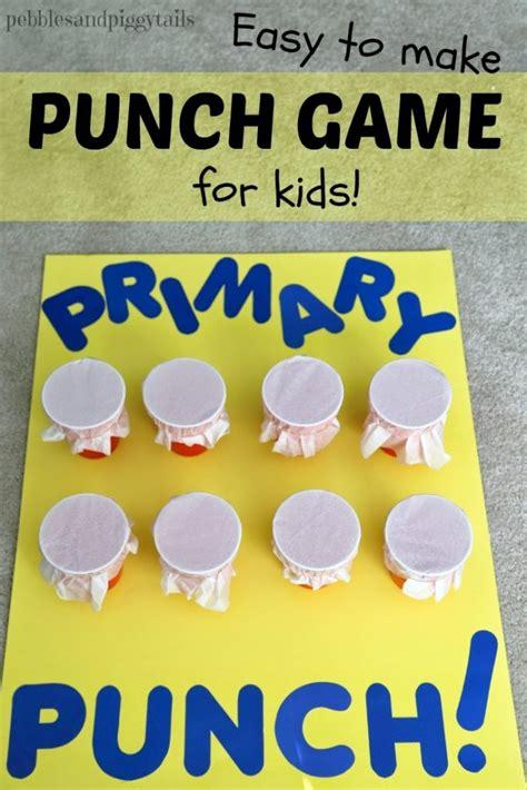 tissue punch game  kids making life blissful