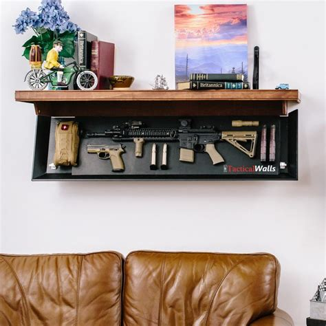 tactical walls shelf larger concealment shelf our 1242 rls rifle length