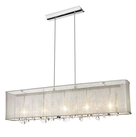 rectangular chandelier with shade and crystals light