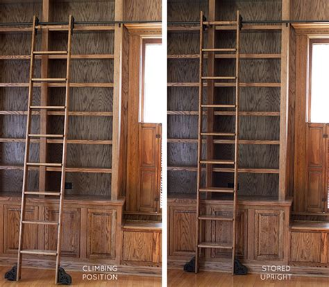 Corner Bookshelves For Sale by The Built In Bookshelves And Rolling Ladder In The Library