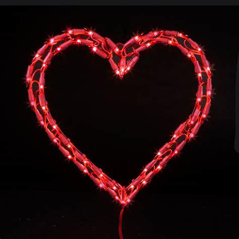 red heart christmas light
