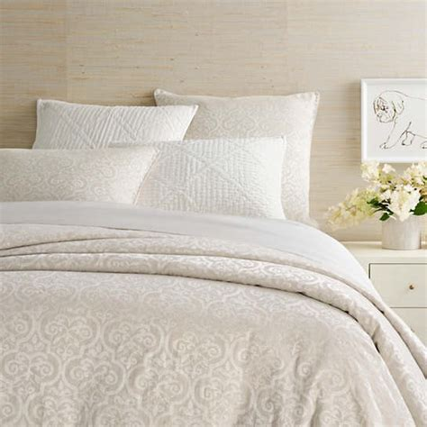 Ivory Duvet Cover by Gwendolyn Embroidered Ivory Duvet Cover Pine Cone Hill