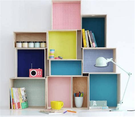 scaffali per libreria libreria e scaffali per camerette con il riciclo creativo