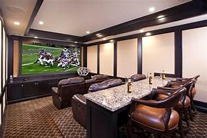 Media rooms platform homes decoration tips for Home theater bar furniture