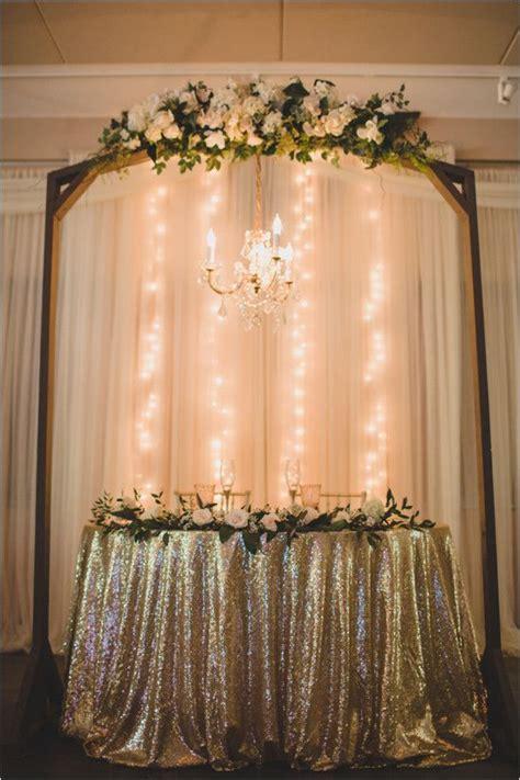 Glam Gold Sweetheart Table Weddingchicks Sweetheart