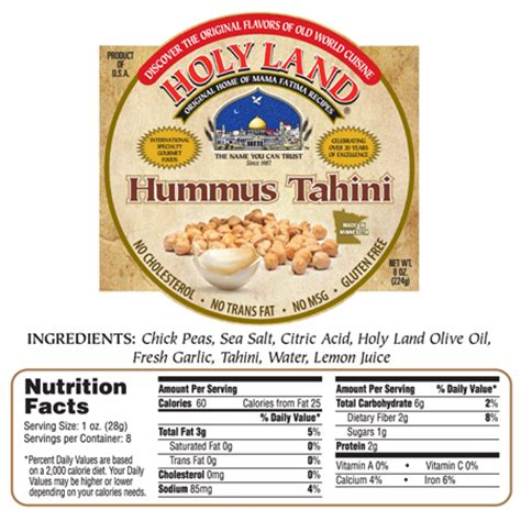 how many calories in hummus hummus with tahini calories