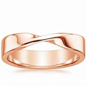 mobius wedding ring in 14k rose gold With mobius wedding ring