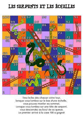 jeu 224 imprimer les serpents et les 233 chelles cycle 1 cycle 2 livres pour la classe cycle