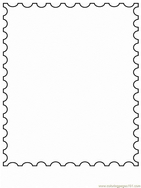 stamp coloring page  simple shapes coloring pages