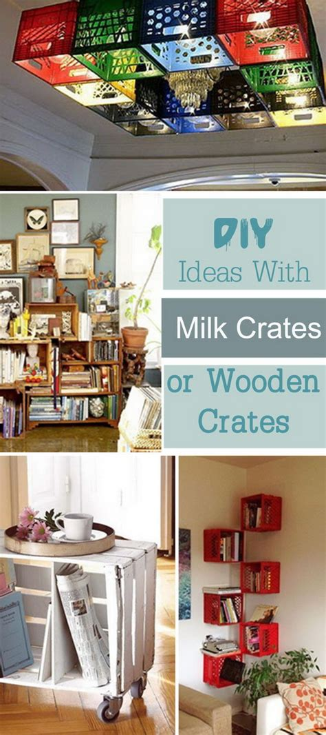 diy ideas  milk crates  wooden crates hative