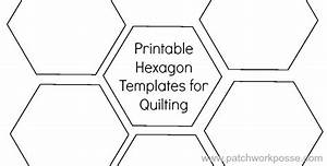 Printable hexagon template for quilting pdf download for Hexagon templates for quilting free