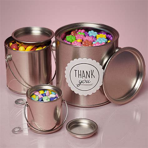 small steel buckets paint cans metal containers gifts