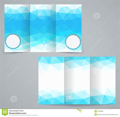 fold business brochure template  triangles