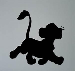 Simba Lion King Silhouette Wall Vinyl Sticker Retro