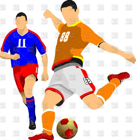 Soccer Player Clipart Two Soccer Players Vector Clipart Lazttweet