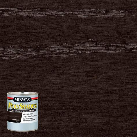 espresso wood minwax 8 oz polyshades espresso gloss stain and polyurethane in 1 step 4 pack 214974444 the