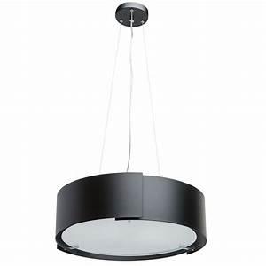 Lustre Metal Noir : lustre noir m tal chrom luminaires ~ Teatrodelosmanantiales.com Idées de Décoration