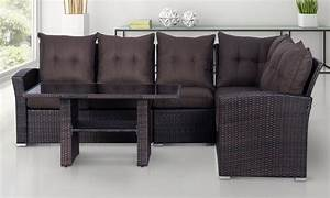 up to 26 off rattan effect 5 seater sofa set groupon With sectional sofa groupon