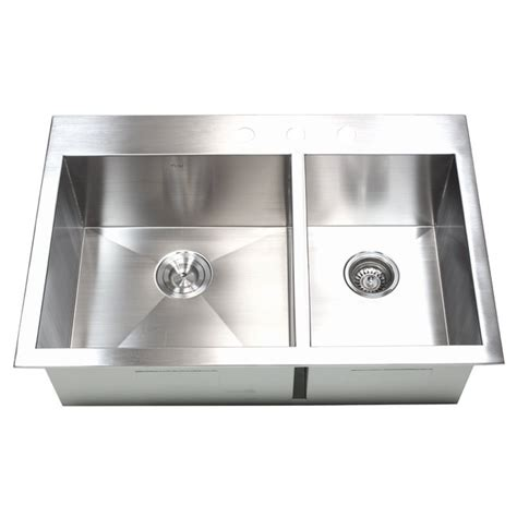 top mount stainless steel kitchen sink 33 inch top mount drop in stainless steel 60 40 9487
