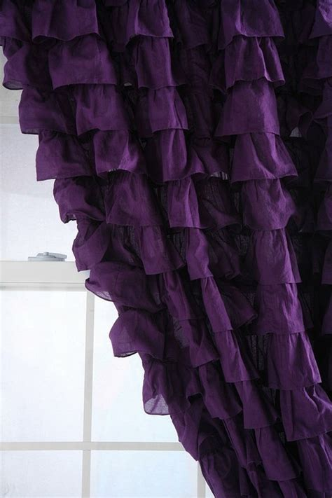 Purple Ruffle Curtain Panel by Top 97 Ideas About Purple Fabric Paint Wallpaper On