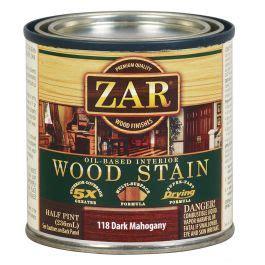 zar oil based wood stain  dark mahogany rockler