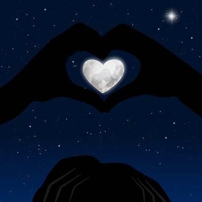 Heart Hand Moon Reflection Hands Reflexion Herz