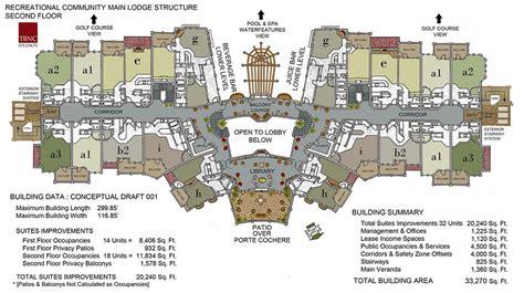 city resort main hotel  floor plan study spa house