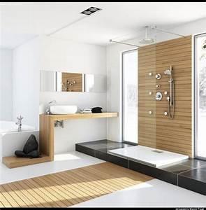 Douche Salle De Bain : prix moyens d 39 une salle de bain sol mur douche baignoire ~ Melissatoandfro.com Idées de Décoration