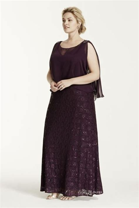 Picture Of stunning plus size mother of the bride dresses 17