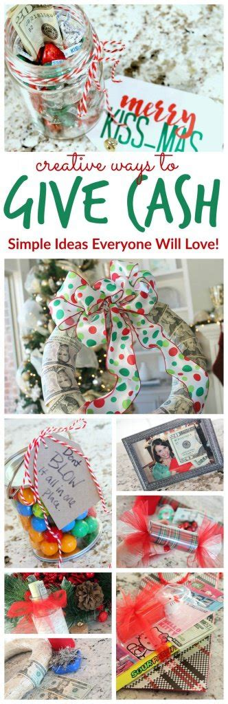 creative ways  give cash   gift  images