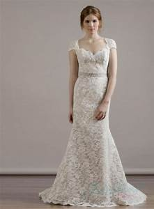 sweetheart neck cap sleeves keyhole back lace sheath With sheath lace wedding dress