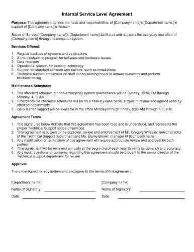 sample agreement templates  microsoft word