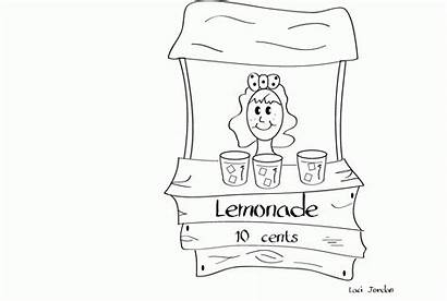 Lemonade Coloring Stand Pages Illustrations Coloringhome