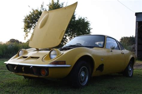 1970 Opel Gt Parts by 1970 Opel Gt Yellow 4 Speed Project Car W Totes Of