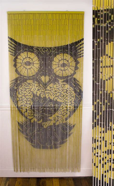 painted bamboo and beaded curtains from earthbound