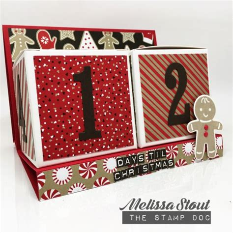 stampin  candy cane lane advent calendar  melissa