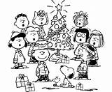 Coloring Christmas Pages Brown Charlie Printable sketch template
