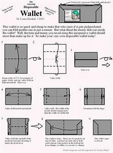 Wallet Origami Diagram