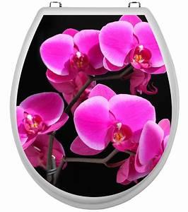 Aufkleber Für Toilettendeckel : wc deckel aufkleber orchidee klobrille toilettendeckel ~ Watch28wear.com Haus und Dekorationen