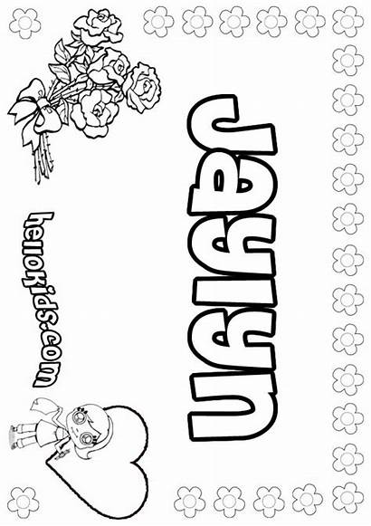 Jaylyn Coloring Pages Names Hellokids Psn