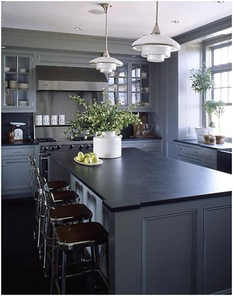 black and grey kitchen ideas lighter gray cabinets amp dark soapstone counters diy and 207 | 2b96f92bbbd605dc9f52a9f8ceeaa411