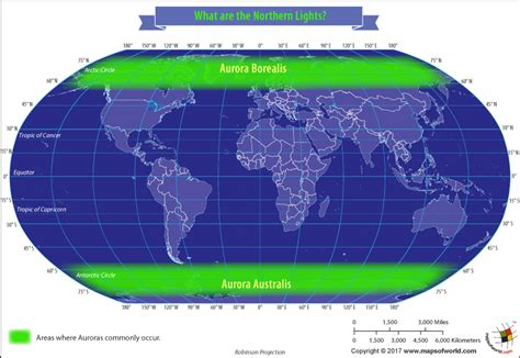 northern lights viewing map what are the northern lights answers