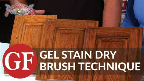 How to Gel Stain Kitchen Cabinets Using Dry Brush