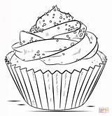 Cupcake Coloring Silhouetten Ausmalbilder Zum sketch template