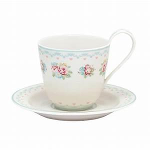 Tasse Mit Untertasse : greengate tasse mit untertasse abelone white online kaufen emil paula ~ Sanjose-hotels-ca.com Haus und Dekorationen