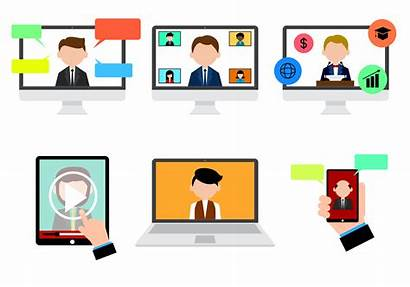 Webinar Vector Icon Clipart Chat Conferencing Graphics
